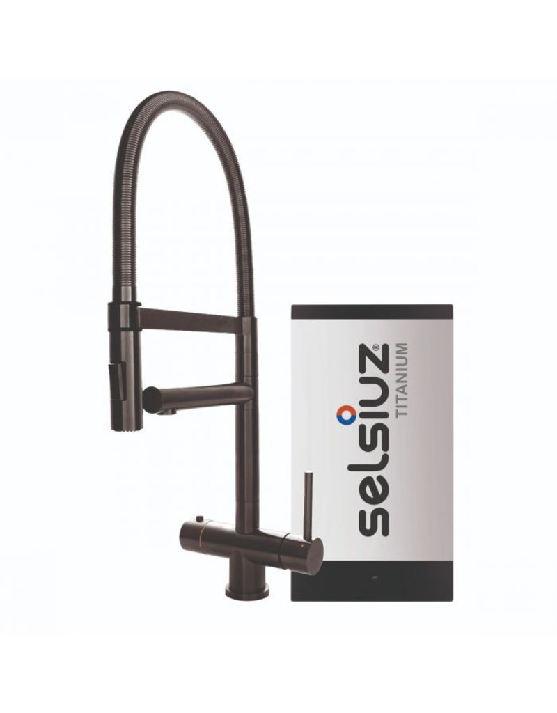 Selsiuz Selsiuz XL Gun Metal Zwart met TITANIUM Solo boiler