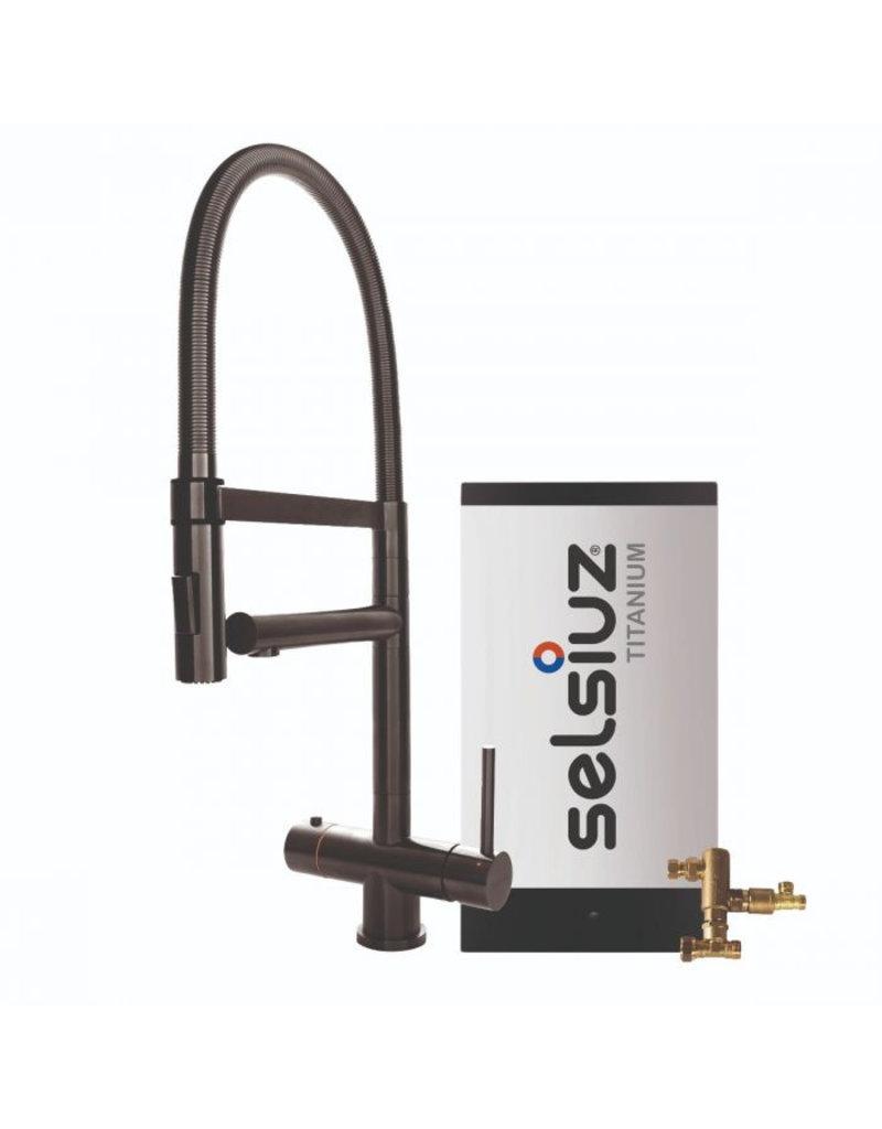 Selsiuz Selsiuz XL Gun Metal Zwart met TITANIUM Combi boiler