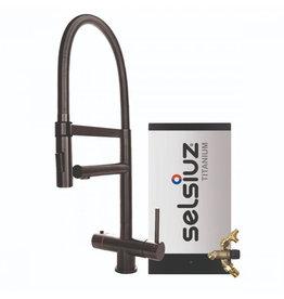 Selsiuz Selsiuz XL Gun Metal Zwart met TITANIUM Combi Extra (Combi+) boiler
