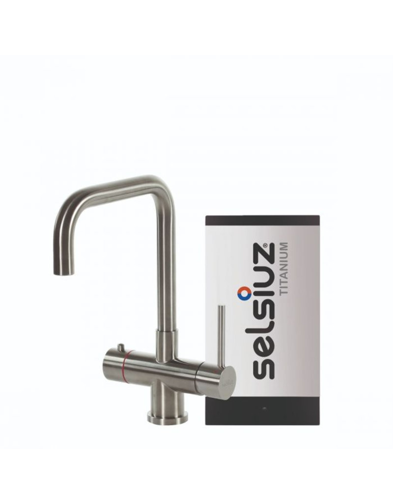 Selsiuz Selsiuz Haaks RVS (Inox) met TITANIUM Single boiler