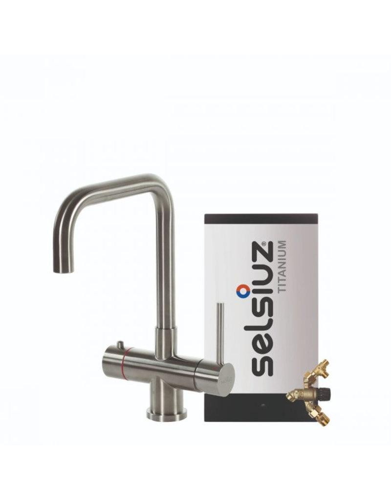 Selsiuz Selsiuz Haaks RVS (Inox) met TITANIUM Combi (Extra) boiler
