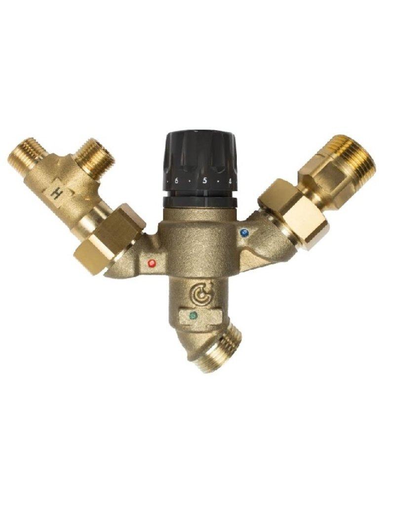 Selsiuz Selsiuz Rond Mat zwart met Combi Extra (Combi+) boiler