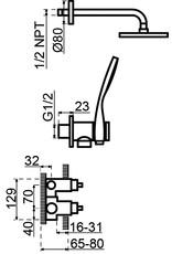 Lanesto Lanesto | Rondo thermostatische inbouwset Chroom