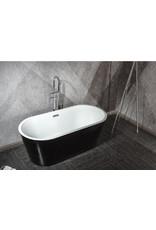 Top Sanitary Design ligbad Teika 160 Zwart