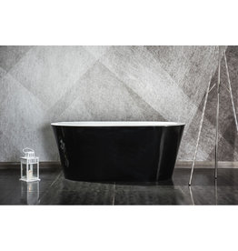 Top Sanitary Design ligbad Riga 150 Zwart