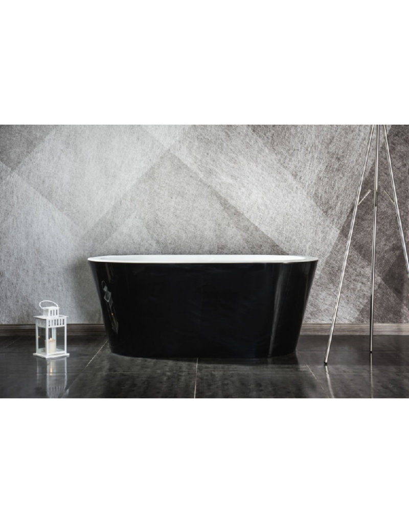 Top Sanitary Design ligbad Riga 160 Zwart