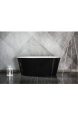Top Sanitary Design ligbad Riga 170 Zwart