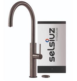 Selsiuz Selsiuz by Gessi 3 in 1 Gun Metal Zwart met TITANIUM Solo boiler
