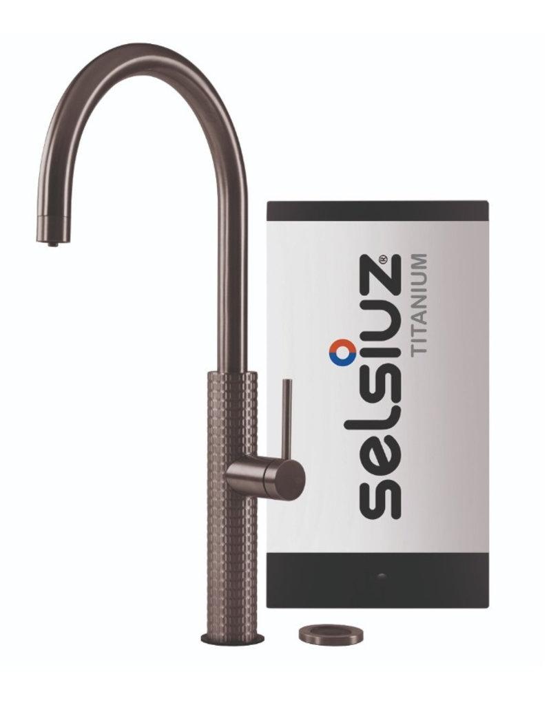 Selsiuz Selsiuz by Gessi 3 in 1 Gun Metal Zwart met TITANIUM Single boiler