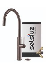 Selsiuz Selsiuz by Gessi 3 in 1 Gun Metal Zwart met TITANIUM Combi (Extra) boiler