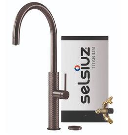 Selsiuz Selsiuz by Gessi 3 in 1 Gun Metal Zwart met TITANIUM Combi Extra(Combi+) boiler