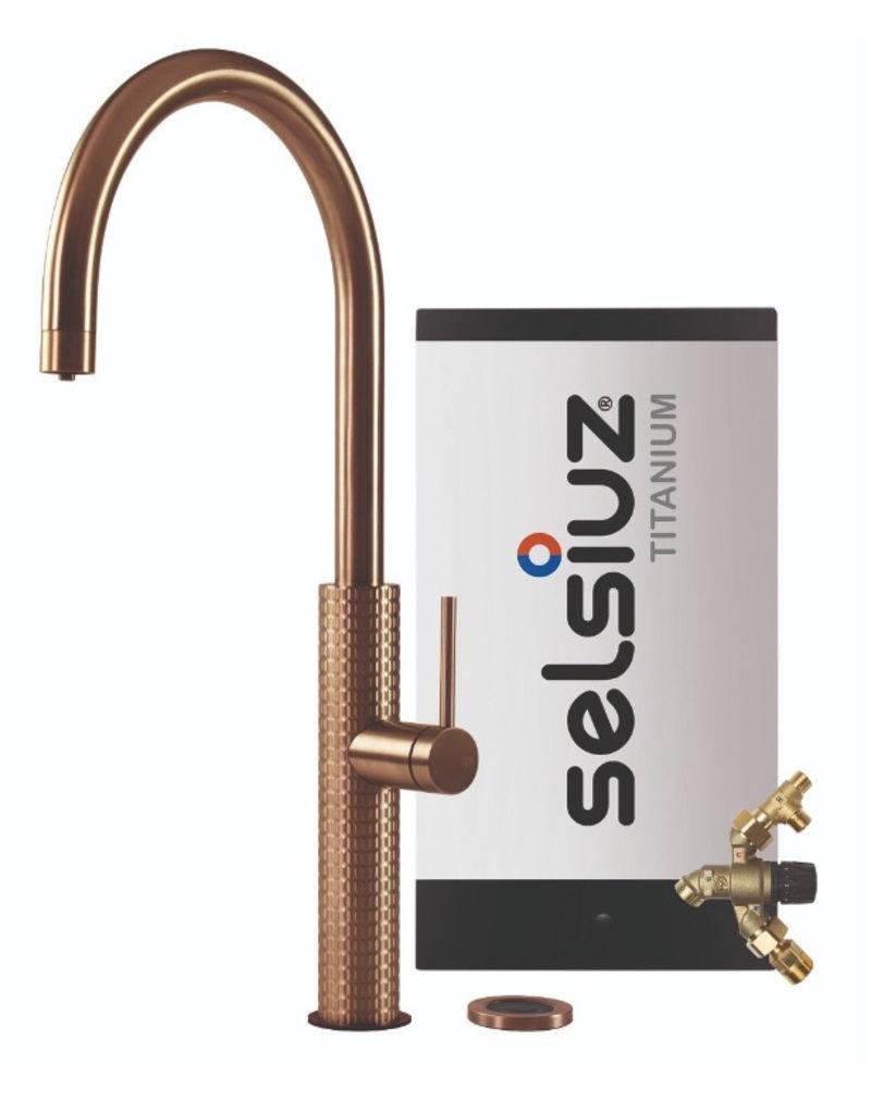 Selsiuz Selsiuz by Gessi 3 in 1 Copper / Koper met TITANIUM Combi (Extra) boiler