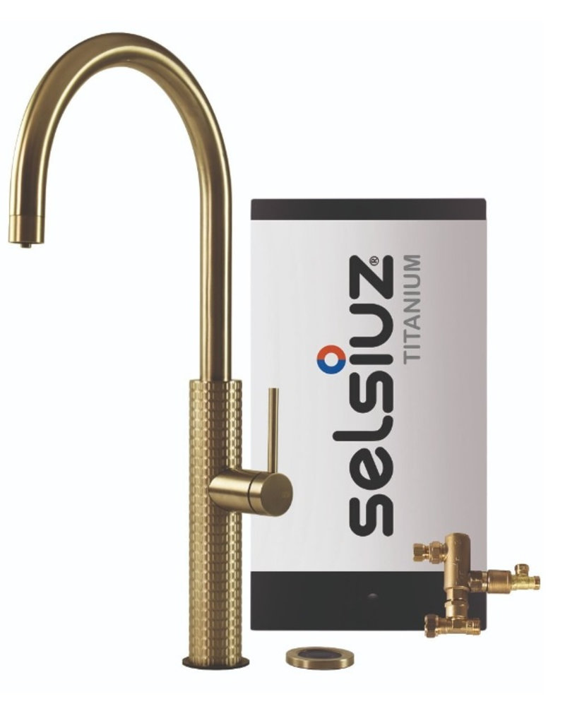 Selsiuz Selsiuz by Gessi 3 in 1 Gold / Goud met TITANIUM Combi boiler
