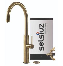 Selsiuz Selsiuz by Gessi 3 in 1 Gold / Goud met TITANIUM Combi Extra(Combi+) boiler