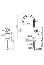 Selsiuz Selsiuz by Gessi 3 in 1 RVS met TITANIUM Combi (Extra) boiler