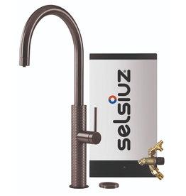 Selsiuz Selsiuz by Gessi 3 in 1 Gun Metal Zwart met Combi Extra(Combi+) boiler