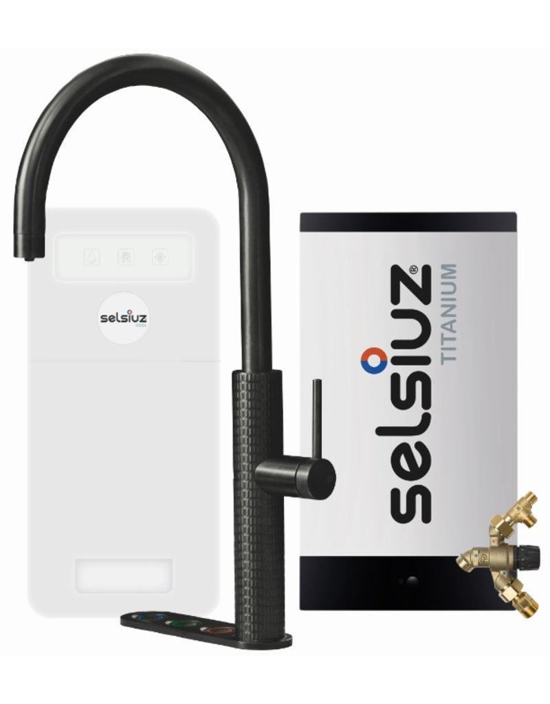 Selsiuz Selsiuz by Gessi 5 in 1 Gun Metal Zwart met TITANIUM Combi (Extra) boiler en Cooler