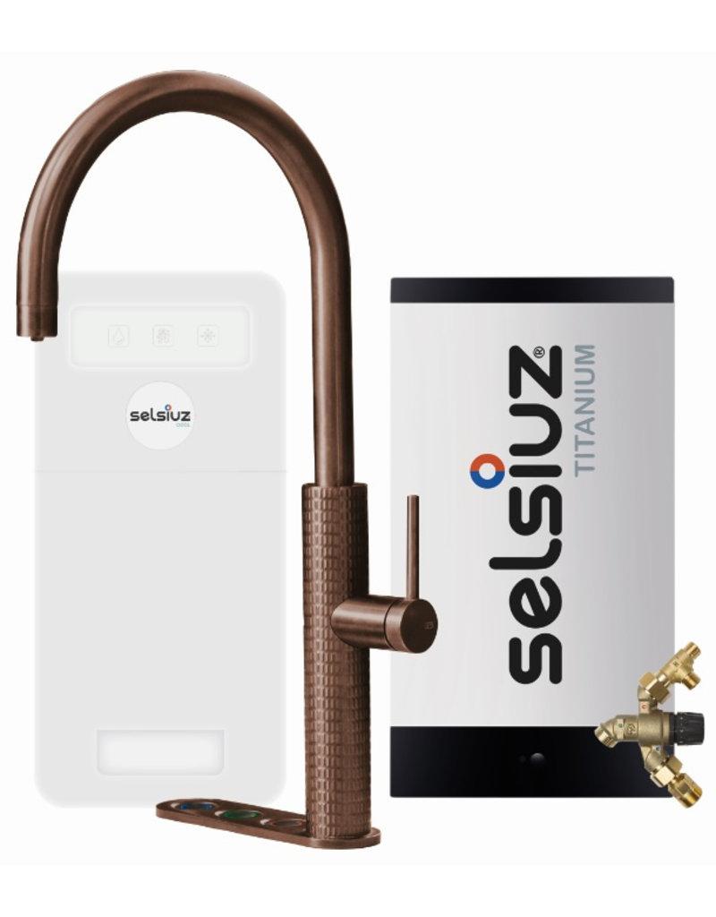 Selsiuz Selsiuz by Gessi 5 in 1 Copper / Koper met TITANIUM Combi extra(combi+) boiler en Cooler