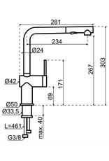 Gessi Gessi Inedito RVS-PVD met uittrekbare perlator