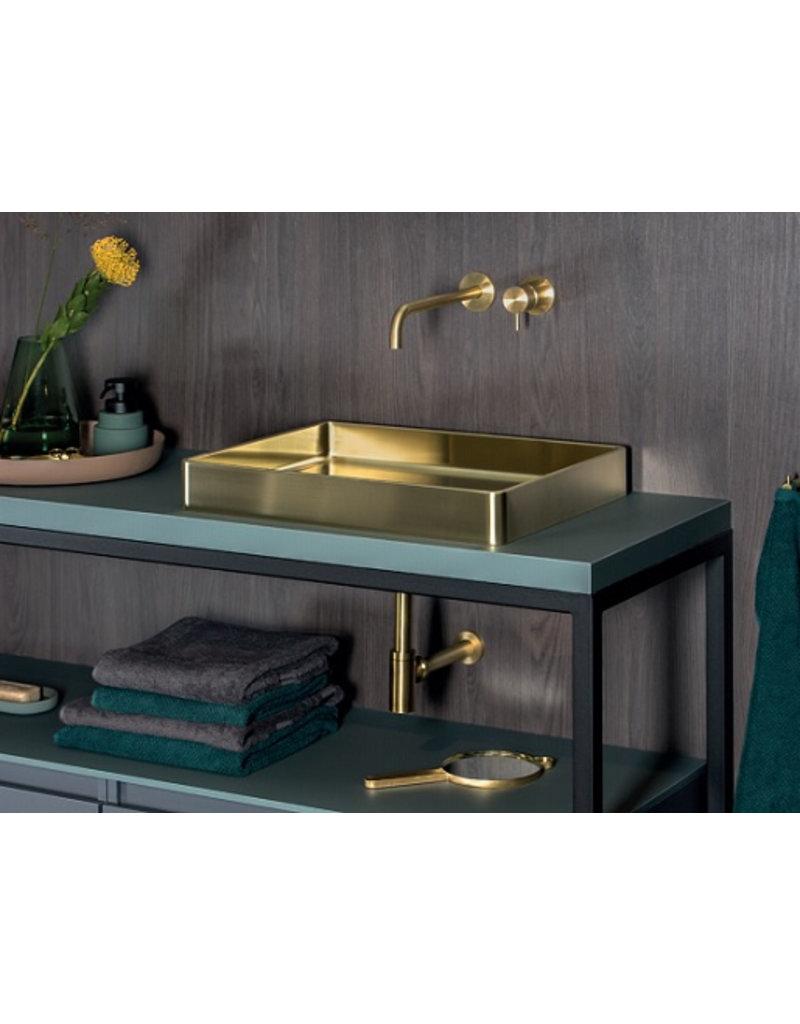 Lanesto Lanesto Qisani Vanity wastafel 47x32x8 Gold / Goud, incl. vaste plug