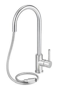 Flexibele keukenkranen met uittrekbare uitloop, perlator, spoeldouche of handdouche