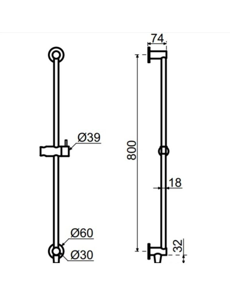 Waterevolution Waterevolution Qisani Flow glijstang Gun Metal Zwart