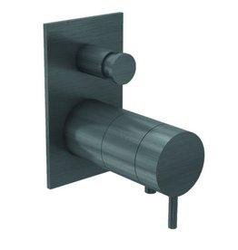 Waterevolution Waterevolution Qisani Flow thermostatische inbouwkraan Vierkant Gun Metal Zwart
