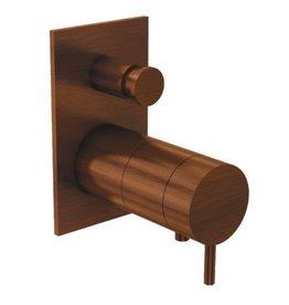 Waterevolution Waterevolution Qisani Flow thermostatische inbouwkraan Vierkant Copper / Koper