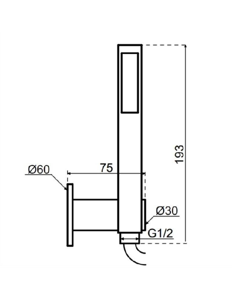 Waterevolution Waterevolution Qisani Flow handdouche met wateraansluiting Gun Metal Zwart