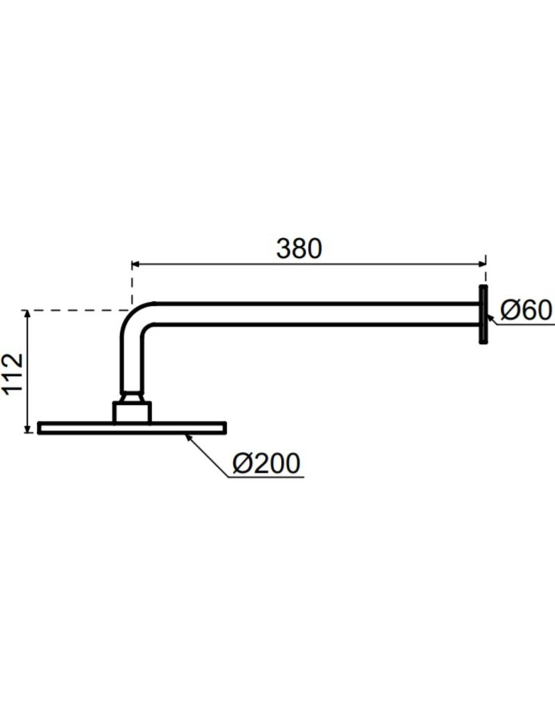 Waterevolution Waterevolution Qisani Flow hoofddouche 20cm met wanddouchearm Gold / Goud