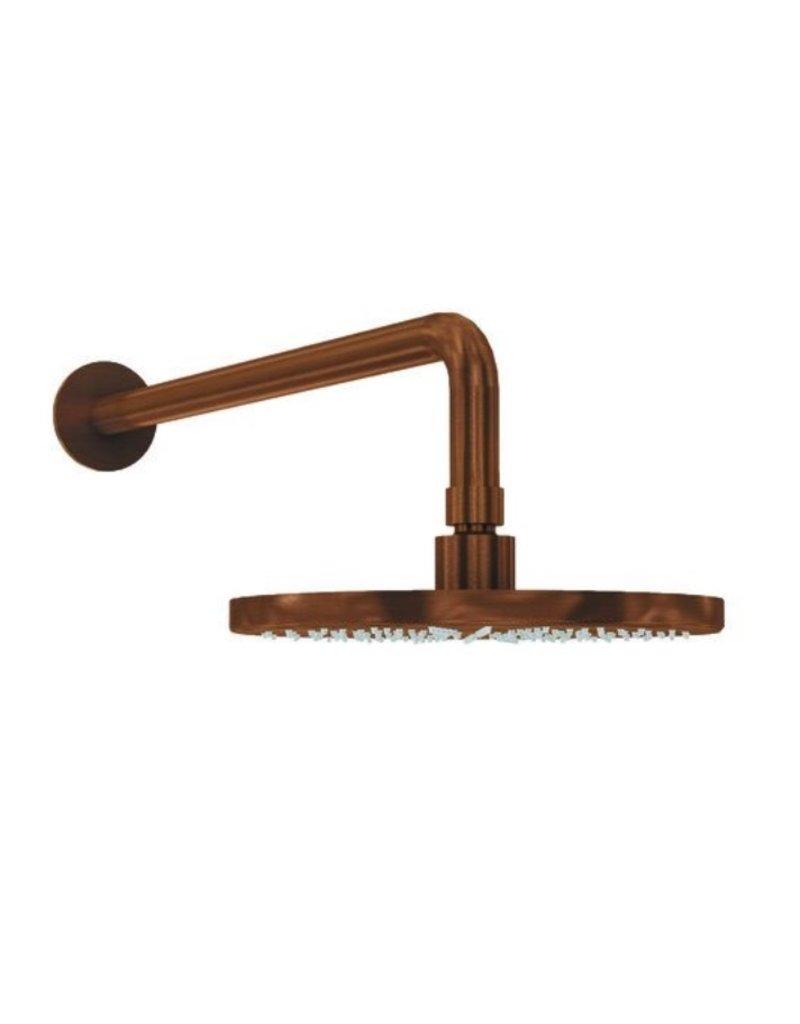 Waterevolution Waterevolution Qisani Flow hoofddouche 25cm met wanddouchearm Copper / Koper