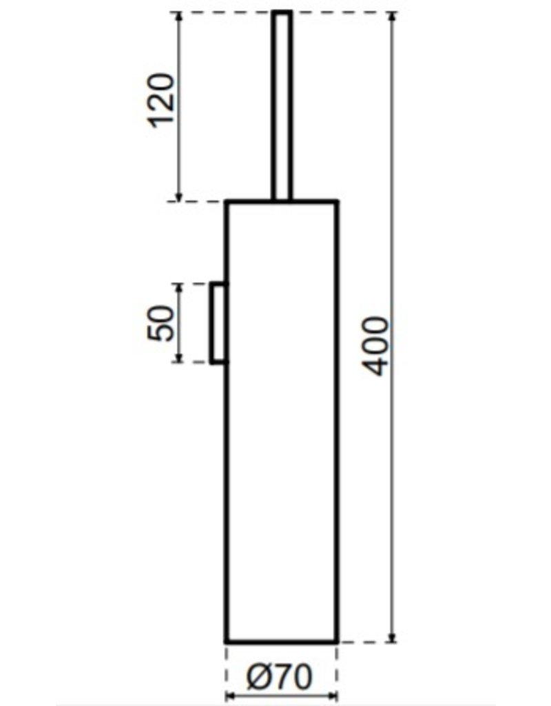 Waterevolution Waterevolution Qisani Flow wandtoiletborstel met houder Chroom