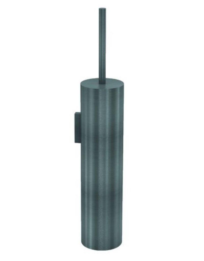 Waterevolution Waterevolution Qisani Flow wandtoiletborstel met houder Gun Metal Zwart