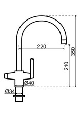 Selsiuz Selsiuz Osiris Cone Arc 3-in-1 RVS met Combi Extra (Combi+) boiler