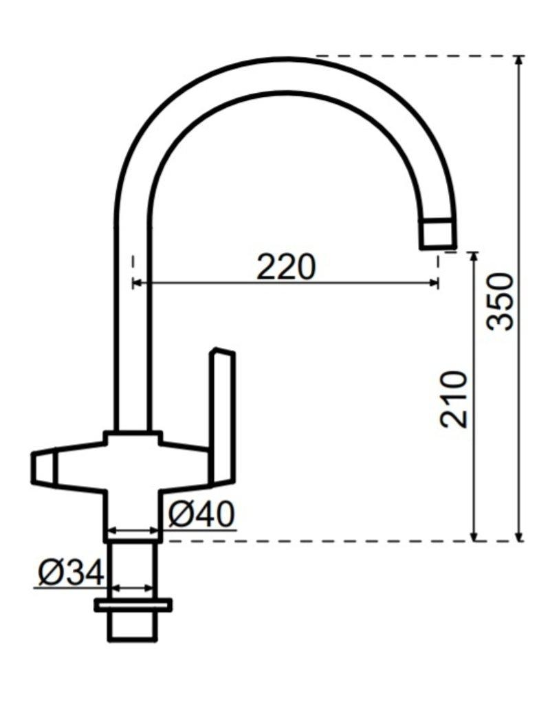 Selsiuz Selsiuz Osiris Cone Arc 3-in-1 Sturdy Black met Combi boiler