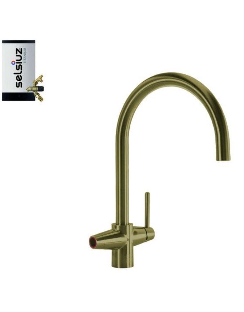 Selsiuz Selsiuz Osiris Cone Arc 3-in-1 Gold / Goud met TITANIUM Combi Extra (Combi+) boiler