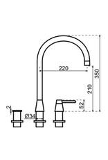 Selsiuz Selsiuz Osiris Cone Counter 3-in-1 RVS met TITANIUM Single boiler