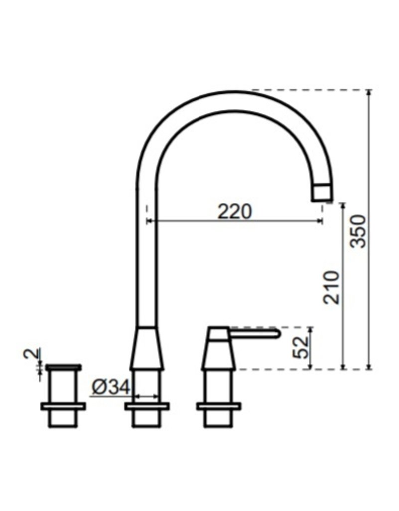 Selsiuz Selsiuz Osiris Cone Counter 3-in-1 Sturdy Black met TITANIUM Combi boiler