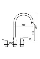 Selsiuz Selsiuz Osiris Cone Counter 3-in-1 Copper / Koper met TITANIUM Single boiler
