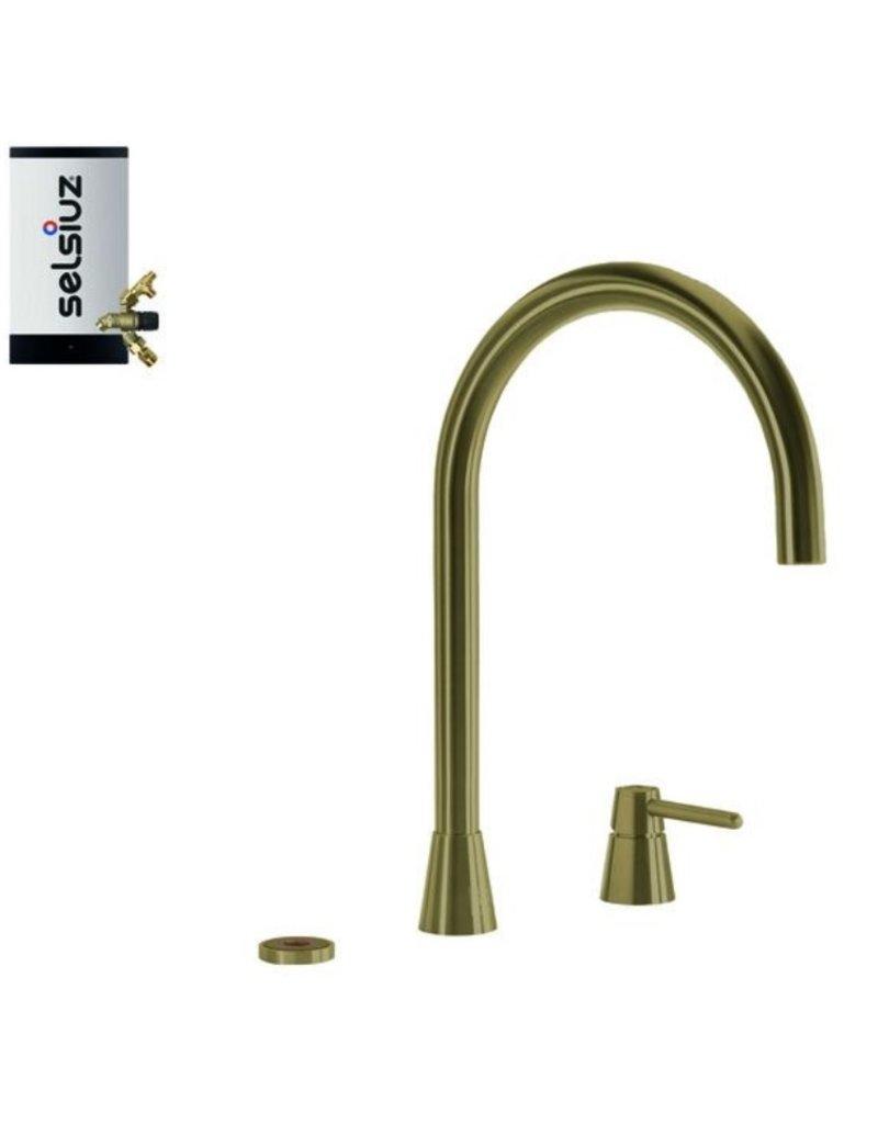 Selsiuz Selsiuz Osiris Cone Counter 3-in-1 Gold / Goud met Combi Extra (Combi+) boiler