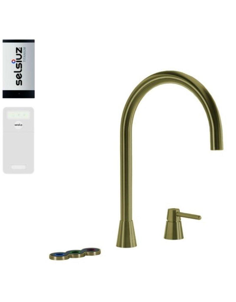 Selsiuz Selsiuz Osiris Cone Counter 5-in-1 Gold / Goud met TITANIUM Solo boiler