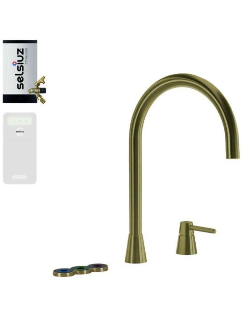 Selsiuz Selsiuz Osiris Cone Counter 5-in-1 Gold / Goud met TITANIUM Combi Extra (Combi+) boiler