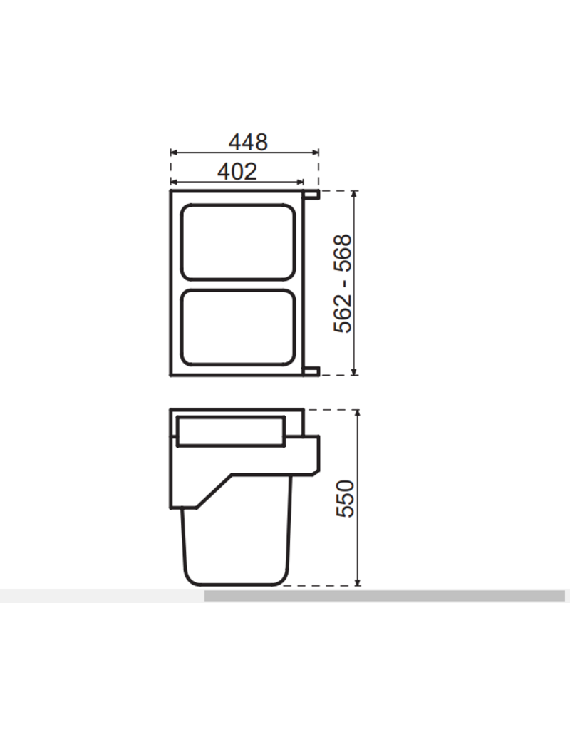 Hailo Hailo Laundry Carrier S 600  (2x 33 liter) 3270691