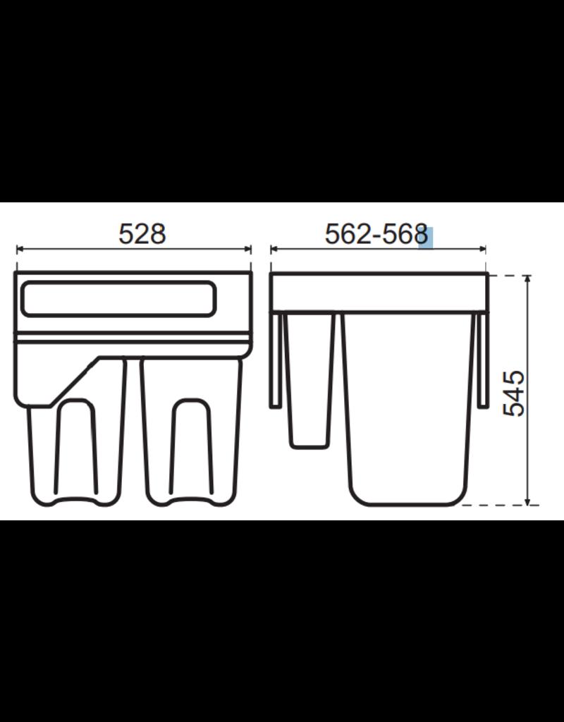 Hailo Hailo Laundry Carrier 600  (2 x 33 + 1 x 12 + 1 x 2,5 liter) 3270611