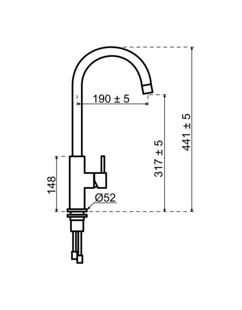 Selsiuz Selsiuz Push Rond Inox (RVS) met TITANIUM Single boiler