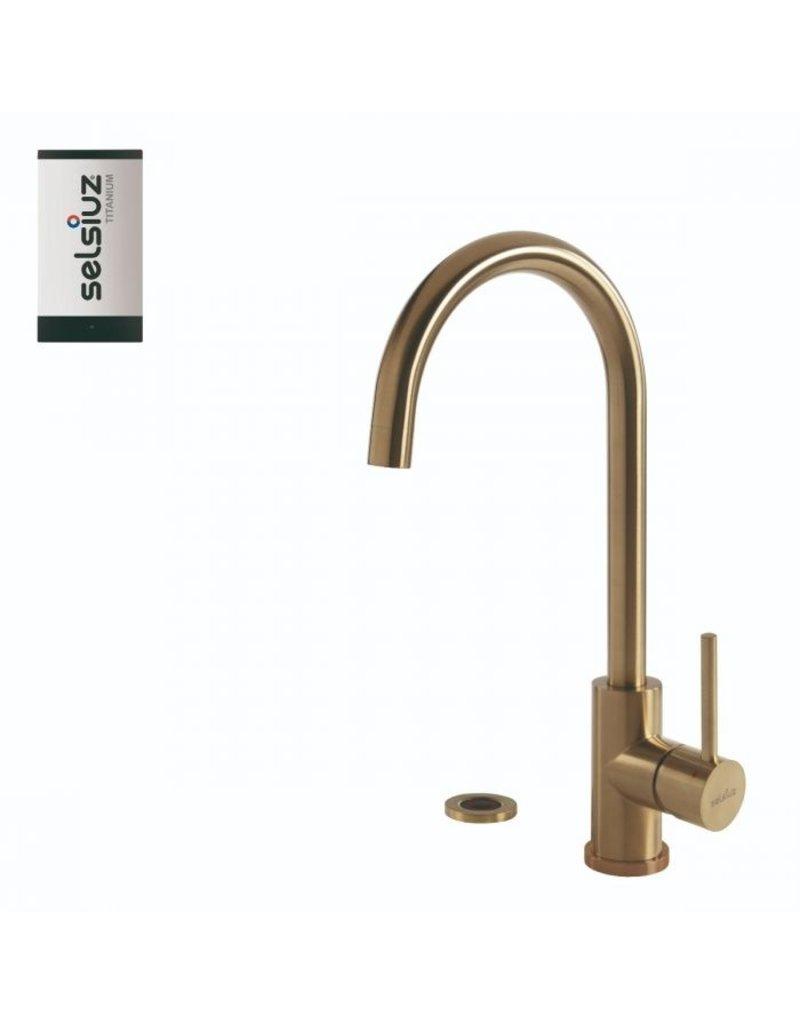 Selsiuz Selsiuz Push Rond Gold / Goud met TITANIUM Single boiler