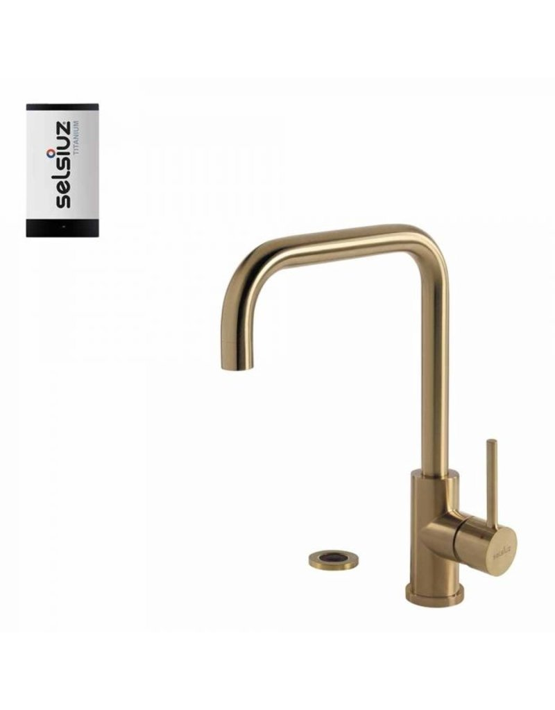 Selsiuz Selsiuz Push Haaks Gold / Goud met TITANIUM Single boiler