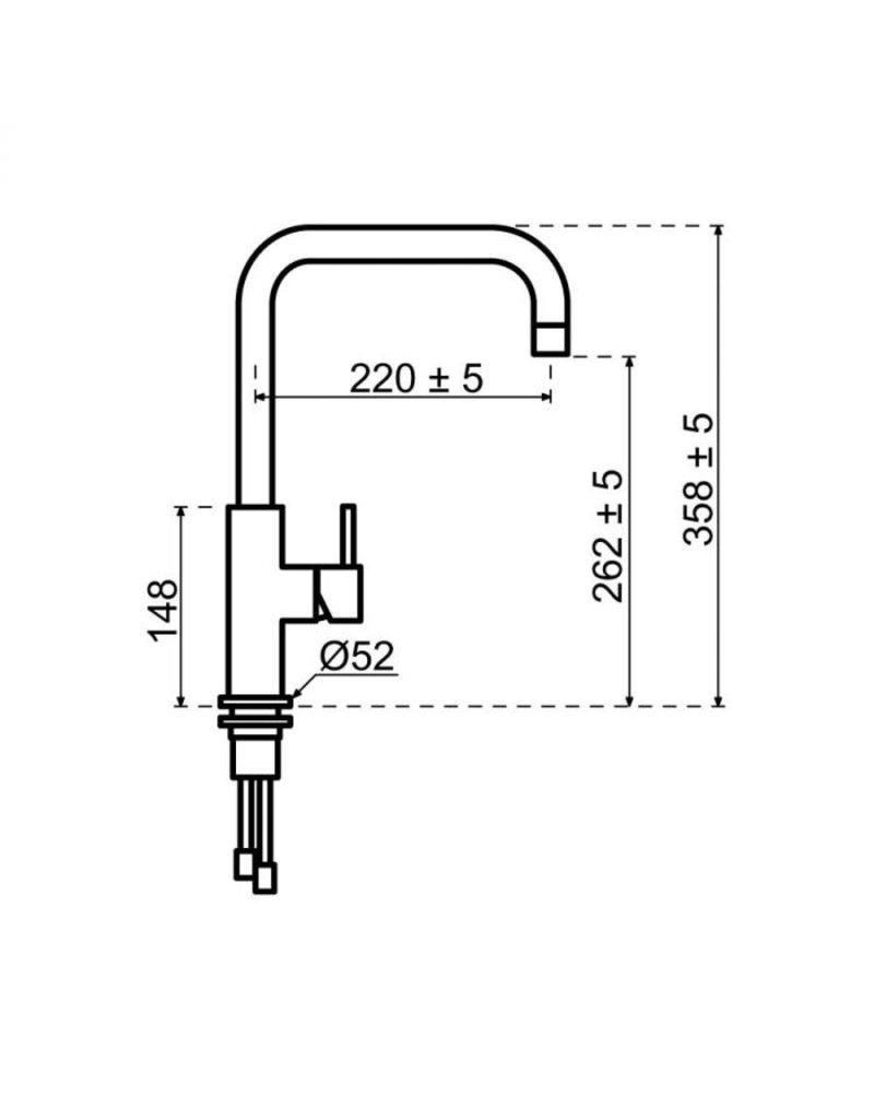 Selsiuz Selsiuz Push Haaks Gun Metal Zwart met TITANIUM Single boiler
