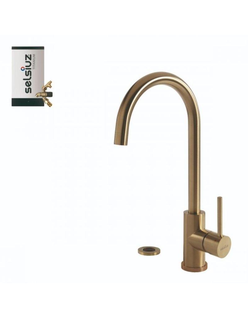 Selsiuz Selsiuz Push Rond Gold / Goud met TITANIUM Combi (Extra) boiler