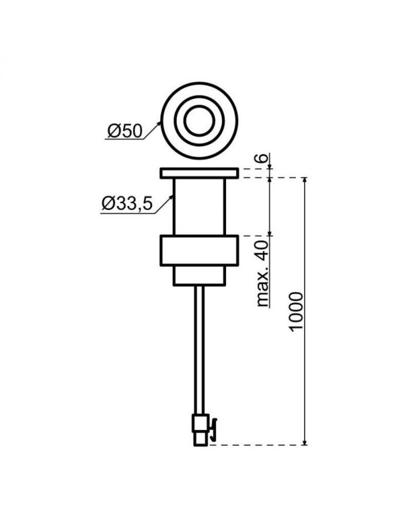 Selsiuz Selsiuz Push Rond Copper / Koper met TITANIUM Combi (Extra) boiler